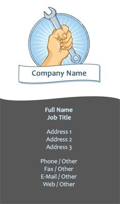 Auto Mechanic Illustration Business Card Template